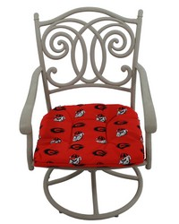 Georgia Bulldogs D Cushion 20 in  x 20 in  by