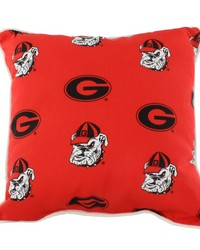 Georgia Bulldogs Outdoor Decorative Pillow 16 in  x 16 in  by