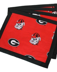 Georgia Bulldogs Placemat w Border Set  of 4 by