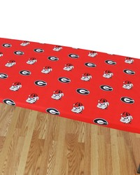 Georgia Bulldogs 8 Table Cover  95 in  x 30 in  by