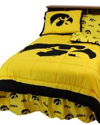 Iowa Hawkeyes Reversible Comforter Set  Twin by