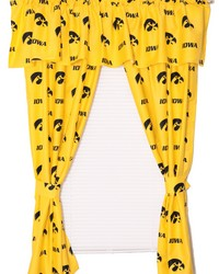 Iowa Hawkeyes Printed Curtain Panels 42 in  x 63 in  by