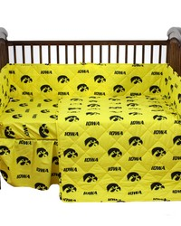 Iowa Hawkeyes Baby Crib Fitted Sheet Pair  Solid Includes 2 Fitted sheets by