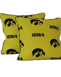 Iowa Hawkeyes 16 in  x 16 in  Decorative Pillow  Includes 2 Decorative Pillows by