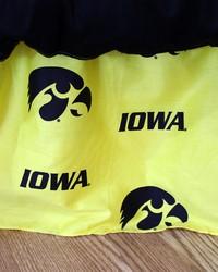 Iowa Hawkeyes Printed Dust Ruffle  Twin by