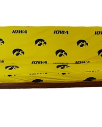 Iowa Hawkeyes Futon Cover  Full size fits 6 and 8 inch mats by