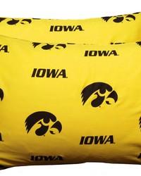 Iowa Hawkeyes Pillowcase Pair  Solid by