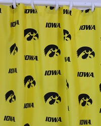 Iowa Hawkeyes Printed Shower Curtain Cover  70 in  x 72 in  by