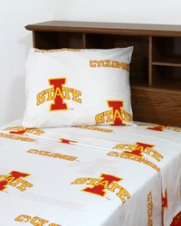 Iowa State Cyclones Sheet Set - White by