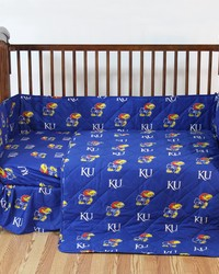 Kansas Jayhawks Baby Crib Fitted Sheet Pair  Solid Includes 2 Fitted sheets by