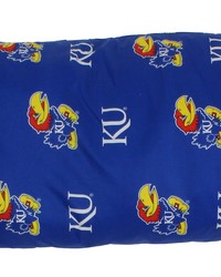 Kansas Jayhawks Printed Body Pillow  20 in  x 60 in  by