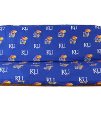 Kansas Jayhawks Futon Cover  Full size fits 6 and 8 inch mats by