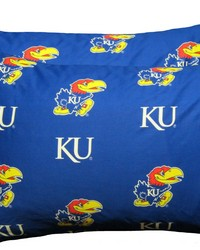 Kansas Jayhawks Pillowcase Pair  Solid by