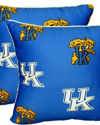 Kentucky Wildcats 16 in  x 16 in  Decorative Pillow  Includes 2 Decorative Pillows by