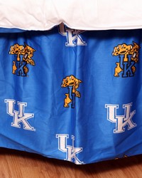Kentucky Wildcats Printed Dust Ruffle  Twin by