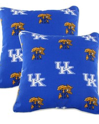 Kentucky Wildcats Outdoor Decorative Pillow Pair  2 16 in  x 16 in  Pillows by