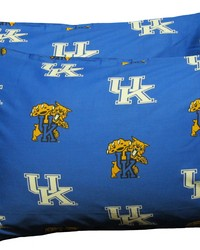 Kentucky Wildcats Pillowcase Pair  Solid by