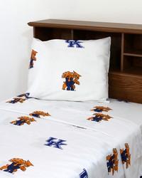Kentucky Wildcats Sheet Set - White by