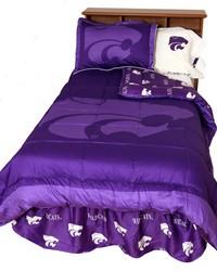 Kansas State Wildcats Reversible Comforter Set  Twin by
