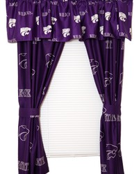 Kansas State Wildcats Printed Curtain Panels 42 in  x 63 in  by
