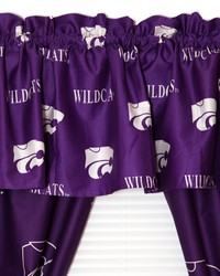Kansas State Wildcats Printed Curtain Valance  84 in  x 15 in  by