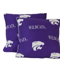 Kansas State Wildcats 16 in  x 16 in  Decorative Pillow  Includes 2 Decorative Pillows by