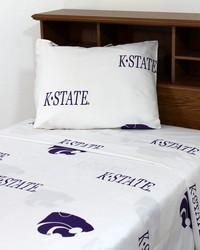 Kansas State Wildcats Sheet Set - White by