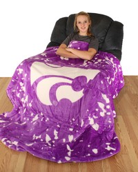 Kansas State Wildcats Throw Blanket   Bedspread by