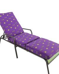 Louisiana State University  Tigers 3pc Chaise Lounge Cushion by