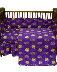 Louisiana State University Tigers Baby Crib Fitted Sheet Pair  Solid Includes 2 Fitted sheets by