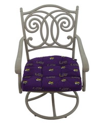 Louisiana State University Tigers D Cushion 20 in  x 20 in  by