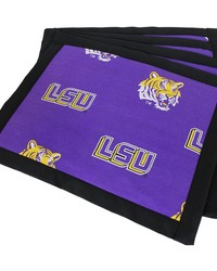 Louisiana State University Tigers Placemat w Border Set  of 4 by