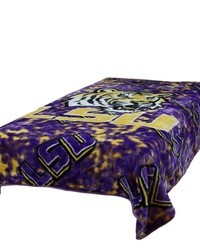 Louisiana State University Tigers Throw Blanket   Bedspread by