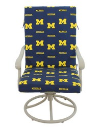 Michigan Wolverines 2pc Chair Cushion by