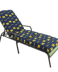 Michigan Wolverines 3pc Chaise Lounge Cushion by