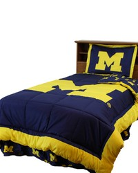 Michigan Wolverines Reversible Comforter Set  Twin by