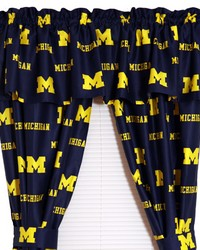 Michigan Wolverines Printed Curtain Panels 42 in  x 63 in  by
