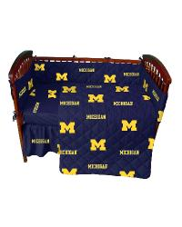 Michigan Wolverines Crib Bedding Set by