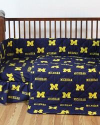 Michigan Wolverines Baby Crib Fitted Sheet Pair  Solid Includes 2 Fitted sheets by