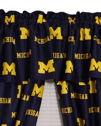 Michigan Wolverines Printed Curtain Valance  84 in  x 15 in  by