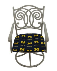 Michigan Wolverines D Cushion 20 in  x 20 in  by