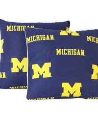Michigan Wolverines 16 in  x 16 in  Decorative Pillow  Includes 2 Decorative Pillows by