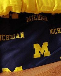 Michigan Wolverines Printed Dust Ruffle  Twin by