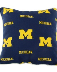 Michigan Wolverines Outdoor Decorative Pillow 16 in  x 16 in  by