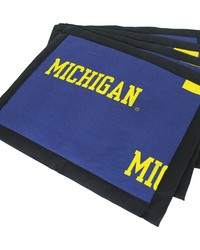 Michigan Wolverines Placemat w Border Set  of 4 by