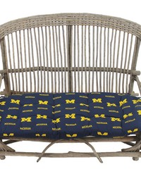 Michigan Wolverines Settee Cushion by