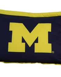 Michigan Wolverines Printed Pillow Sham by