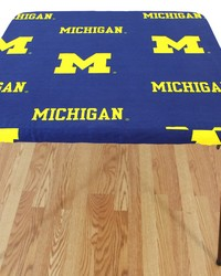 Michigan Wolverines Card Table Cover  33 in  x 33 in  by