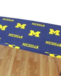 Michigan Wolverines 8 Table Cover  95 in  x 30 in  by