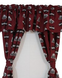 Mississippi State Bulldogs Printed Curtain Panels 42 in  x 63 in  by